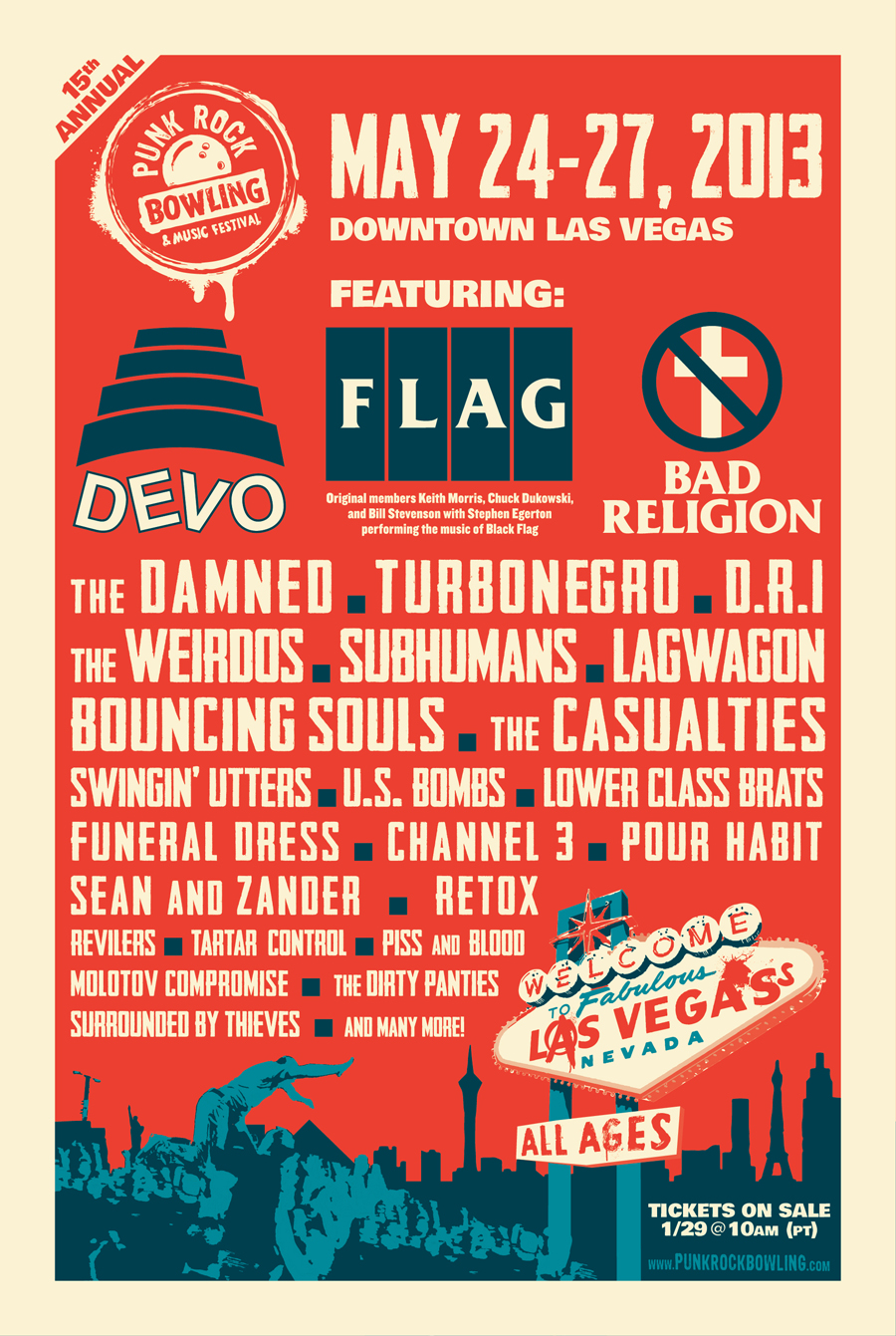 Punk Rock Bowling Teaser Devo and more added to Punk Rock Bowling 2013