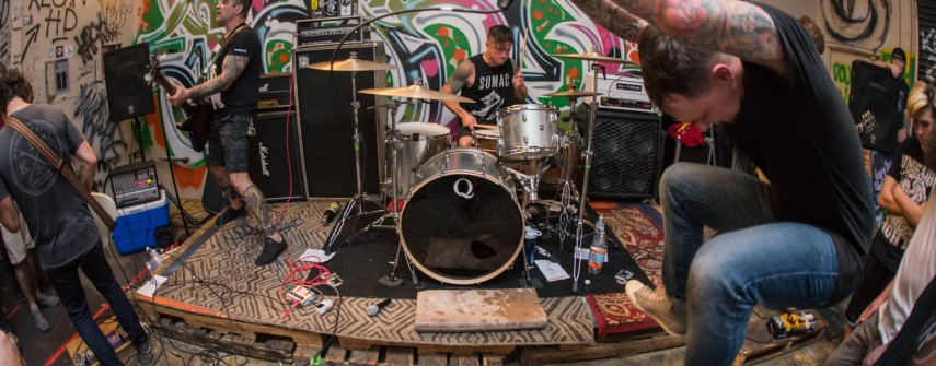 Images: Less Art, Life's Torment, Unfair Fight August 7, 2017 at Garth Haus